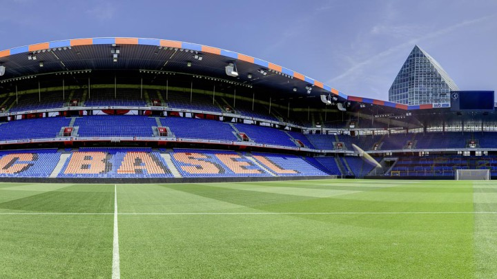 Cover panorama for the virtual tour in the st Jakob stadium in basel