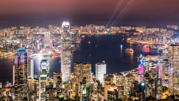 Photo of the time lapse video in Hong Kong  for the company V-Zug